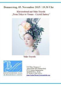 Klavierabend mit Yuko Toyoda From Tokyo to Vienna – Crystal fantasy